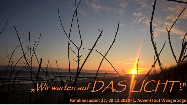Familienauszeit vom 27. – 29.11.2020 auf Wangerooge