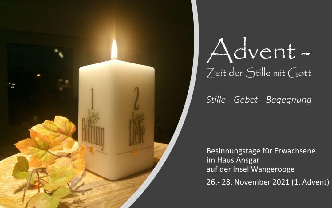 Besinnungstage für Erwachsene auf Wangerooge vom 26. – 28. November 2021
