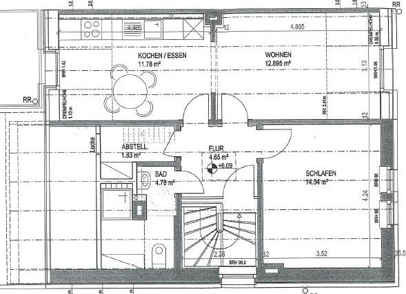 Citynahe Dachgeschosswohnung
